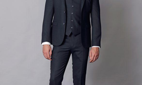 kostuum 3-delig wol stretch € 279,90