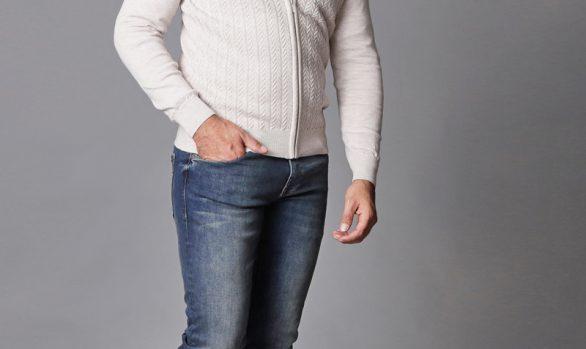 vest € 64,90<br/>overhemd € 49,90<br/>jeans € 59,99